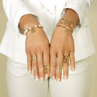 bracelets bagues perles or écru pluie d'étoiles bijoux