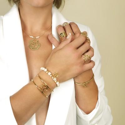 bracelets bagues volupte or écru pluie d'étoiles bijoux