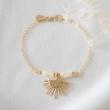 LOUISE Bracelet nacre et or