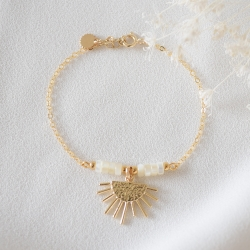 LOUISE Bracelet nacre et or