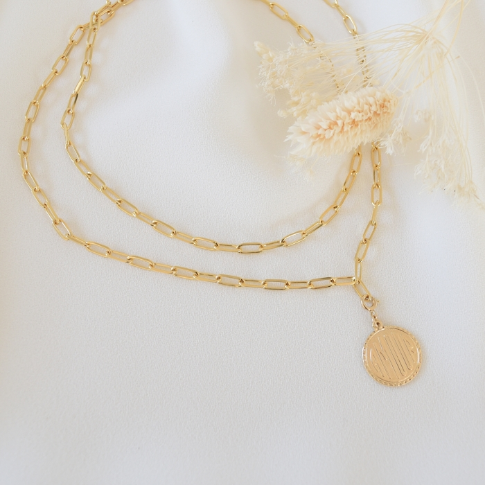 AMOUR Collier double
