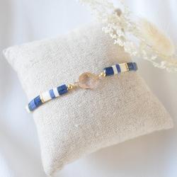 SOLENZARA Bracelet lien trèfle or