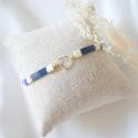 SOLENZARA Bracelet lien coeur or