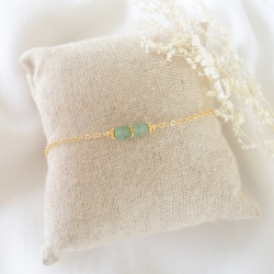BETTY Bracelet chaine aventurine et or