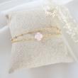 AURE Bracelet double rose et or