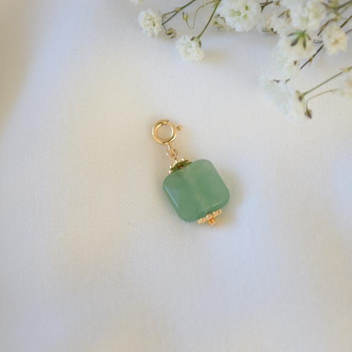 MIX & LOVE Charm pierre verte