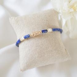 NINA Bracelet bleu et or